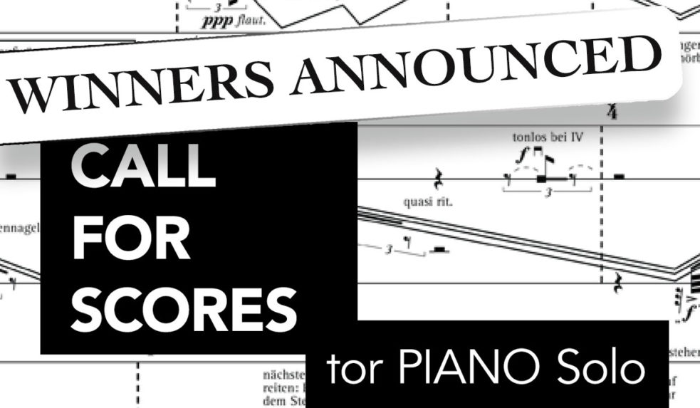 International Call for Score for Piano Solo Works ⋆ RMN Music